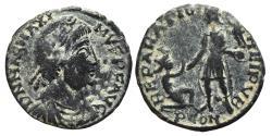 Ancient Coins - MAGNUS MAXIMUS. Æ, Maiorina. 383-388 AD. Arelate mint. PCON, REPARATIO REIPVB.