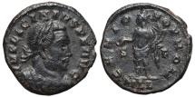 Ancient Coins - LICINIUS I. AE, Follis. 314-315 AD Londinium (London) mint. MLL.  GENIO POP ROM, S-F.