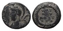 Ancient Coins - URBS ROMA. AE, Half follis. 330-334 AD. Heraclea mint? VOT XX MVLT XXX within wreath. SCARCE.