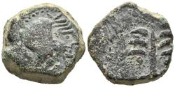 Ancient Coins - NORTH AFRICA. Carthage Æ Double Unit. Uncertain Spanish mint under Carthaginian occupation, circa 237-209 BC.