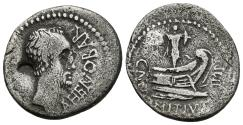 Ancient Coins - CN. DOMITIUS L. F. AHENOBARBUS. Ar, Denarius. 41 BC. Uncertain mint along the Adriatic or Ionian Sea.