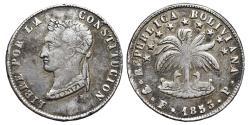 World Coins - BOLIVIA. AR, 4 Soles. 1853 Potosí F.P. mint.
