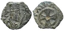 Ancient Coins - AXUM. AE15, Anonymous. Circa 440-470. Greek cross central gold. KINGDOM OF AXUM.