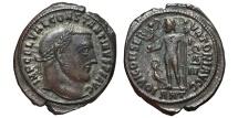 Ancient Coins - CONSTANTINE I. Æ, Follis. 313-314 AD Antioch mint. (ANT) IOVI CONSERVATORI. wreath Δ III.