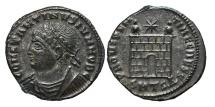 CONSTANTINUS II. AE, Follis. 326-328 AD. Thessalonica mint. SMTSA. Providentiae Caess.