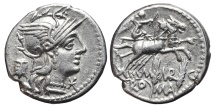 Ancient Coins - M. MARCIUS MN F. AG, Denarius. 134 BC. Rome mint. Victory in biga right, M MARC / RO - MA.
