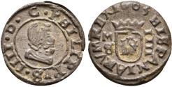 World Coins - SPAIN. Philip IV. 4 Maravedís. 1663. Madrid S. Cal-1450.