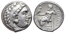 ALEXANDER III. AG, Drachm. 310-301 BC. Kolophon (Ionia) mint. Scarce.