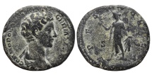 COMMODUS (Young bust). AE, As. 177-192 AD. Rome mint. SPES PVBLICA.