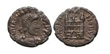 Ancient Coins - MAGNUS MAXIMUS. Æ14. 388 AD. Arles mint. Campgate PCON, SPES ROMANORVM.