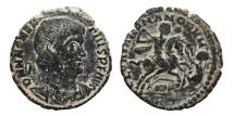 Ancient Coins - MAGNENTIUS. Æ, Centenionalis. 350-354 AD. Rome mint RT. GLORIA ROMANORVM. Scarce.