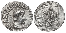 HERMAIOS SOTER. AG Drachm. 50-35 Bc. (Indo-Greek Kingdom).