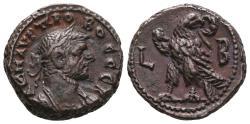 Ancient Coins - PROBUS. Bi, Tetradrachm. Egypt, Alexandria. Dated RY 2 = AD 276/7. Eagle standing right, head left, wreath in beak; L-B.