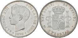 World Coins - SPAIN. Alfonso XIII. 5 Pesetas. 1898 *19-98. Madrid SGV. Cal-27. UNC.