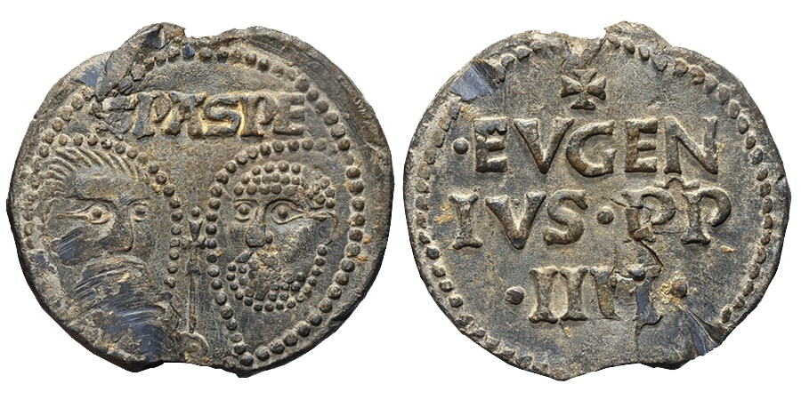 World Coins - PAPAL BULLAE, Italy. 1431-1447 EUGENIUS IV. Heads of Sts. Paul and Peter.