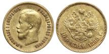 World Coins - NICHOLAS II, 10 Roubles (Gold) 1899. St. Petersburg mint. RUSSIA.