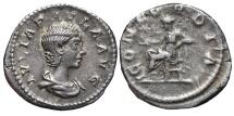 JULIA PAULA, Augusta. AG, Denarius. 218-219 AD. Rome mint. CONCORDIA.