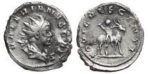 Ancient Coins - VALERIAN II. Antoninianus. 256-257 AD.  Viminacium mint. Infant Jupiter on goat right,  IOVI CRESCENTI.