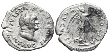 Ancient Coins - VESPASIAN. AR, Quinarius. 75? AD. Rome mint. VICTORIA AVGVSTI. Scarce.