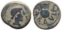 Ancient Coins - CARBULA. AE, As. 120-80 BC. Almodóvar del río mint. (Córdoba-Spain). Lyre. SCARCE.