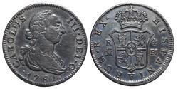 World Coins - CARLOS III. AR, 4 Reales. 1781. Madrid mint P.J. Cal-1113. SPAIN. Scarce.
