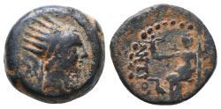 Ancient Coins - SELEUKID KINGS OF SYRIA. Antiochos IV Epiphanes. Dichalkon. 175-164 BC. Seleukeia on the Tigris.