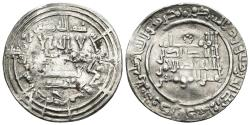 World Coins - ABD AL-RAHMAN III. AR, Dirham. 332 AH. Al-Andalus mint. Citing Muhammad in the IA. CALIPHATE OF CÓRDOBA.