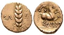 Ancient Coins - Very Rare Wild Heart Stater of Trinovantes / Catuvellauni, GOLD