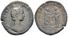 Ancient Coins - Rare Wedding Sestertius of Orbiana