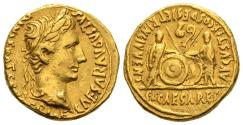 Ancient Coins - Scarce Augustus Aureus with Lucius & Gaius