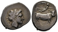 Didrachm / nomos of Neapolis in exceptional strike and decent quality