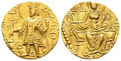 Ancient Coins - Vasishka Gold Dinar, Kushan Empire