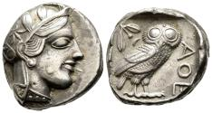 Ancient Coins - EF Owl Tetradrachm Of Athens