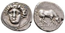 Ancient Coins - Beautiful Drachm of Larissa with Expressive Portrait