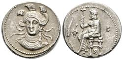 Ancient Coins - About EF Balakros Double Siglos From Tarsus