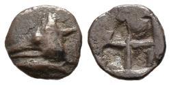 Ancient Coins - Very Rare Cyzicus Hemiobol, von Aulock Plate Coin!