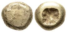 Ancient Coins - Very Rare Early Electrum 1/4 Stater (Tetarte) 7th Century BC