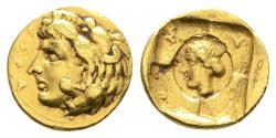 GOLD Tetradrachm (20 Litrae) of Dionysios I, Good VF