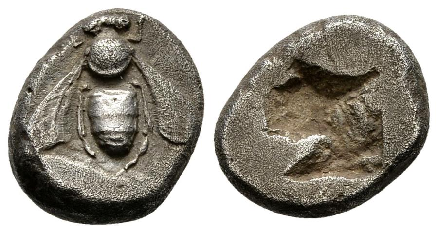 Ancient Coins - Nice Archaic Drachm Of Ephesus in Ionia, First Drachm Series, 6th Century BC, 2006 Pedigree