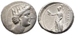 Ancient Coins - Very Rare Andragoras Tetradrachm With Tyche's Head