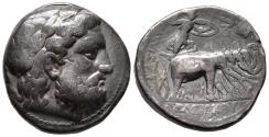 Ancient Coins - Attractive, Nicely Toned  Tetradrachm of Seleukos I. with Elephant Quadriga