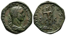 Ancient Coins - Extremely Fine Sestertius of Severus Alexander