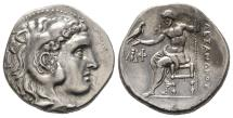 Ancient Coins - EF Drachm of Lysimachus Ephesus Mint with Wine Grapes
