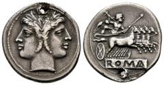 Ancient Coins - Attractive Early Quadrigatus in Good Style