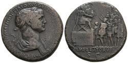 Ancient Coins - Trajan Platform Sestertius