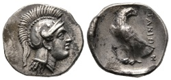 Ancient Coins - Very rare and exceptionally fine hemidrachm of Itanus