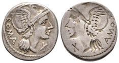 Ancient Coins - Rare Minucius Augurinus Brockage
