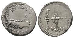 Ancient Coins - Legionary Denarius, Scarce Type, Legio VIII Gallica or Classica