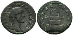 Ancient Coins - Marcus Aurelius for Divus Antoninus Pius: Consecration Sestertius