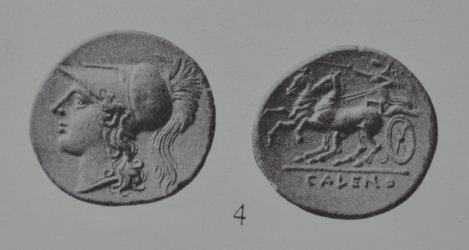 Ancient Coins - 19th C. BMC electrotype - Campania AR didrachm - CALENO